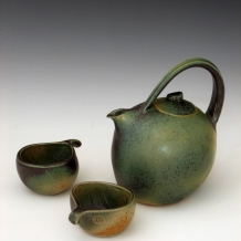 Teapot with Two Cups