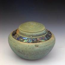 Lidded Abalone Inlayed Form