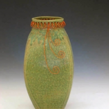 Vase with Copper Wire