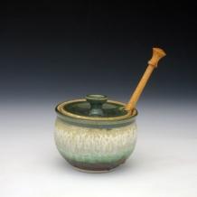 Ash Glaze Honey Pot