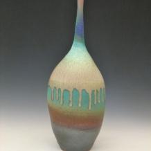 Large Ash Glaze Bottle
